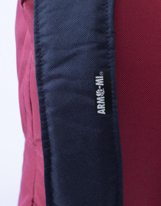 arma-mi rustic red strap label